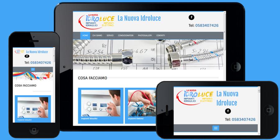 Nuovo sito web La Nuova Idroluce Capannori